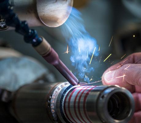 Spindel Wellen Reparatur Lasern
