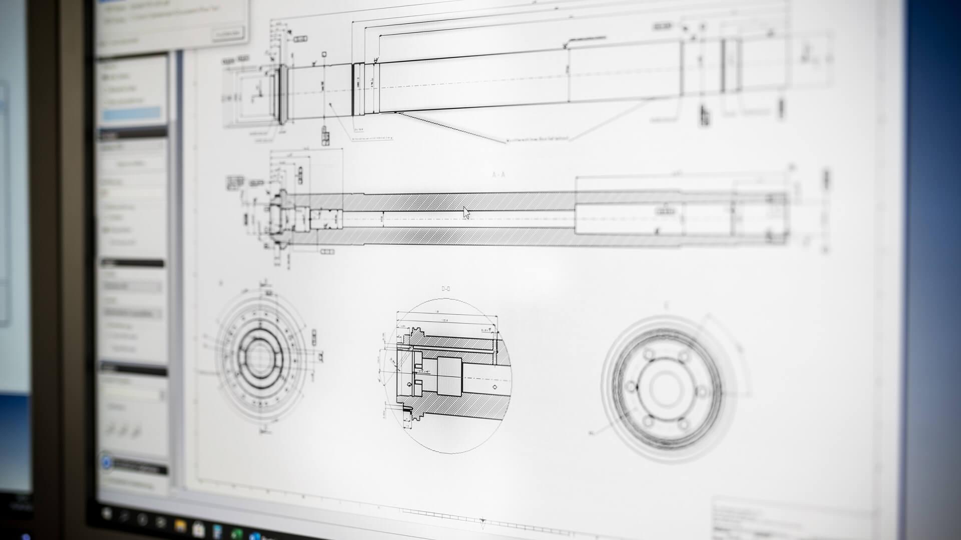 Konstruktion Zeichnung CAD